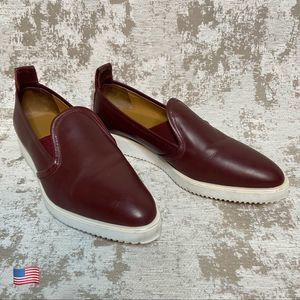 Everlane The Leather Street Shoe in Oxblood